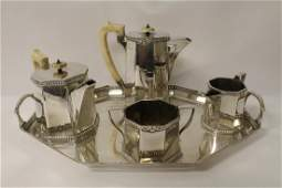 5 pc Sheffield sterling silver tea  coffee set