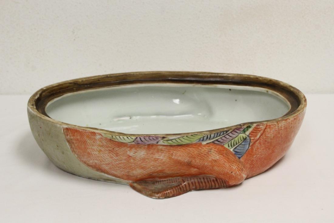 Large Chinese famille rose porcelain box - 10