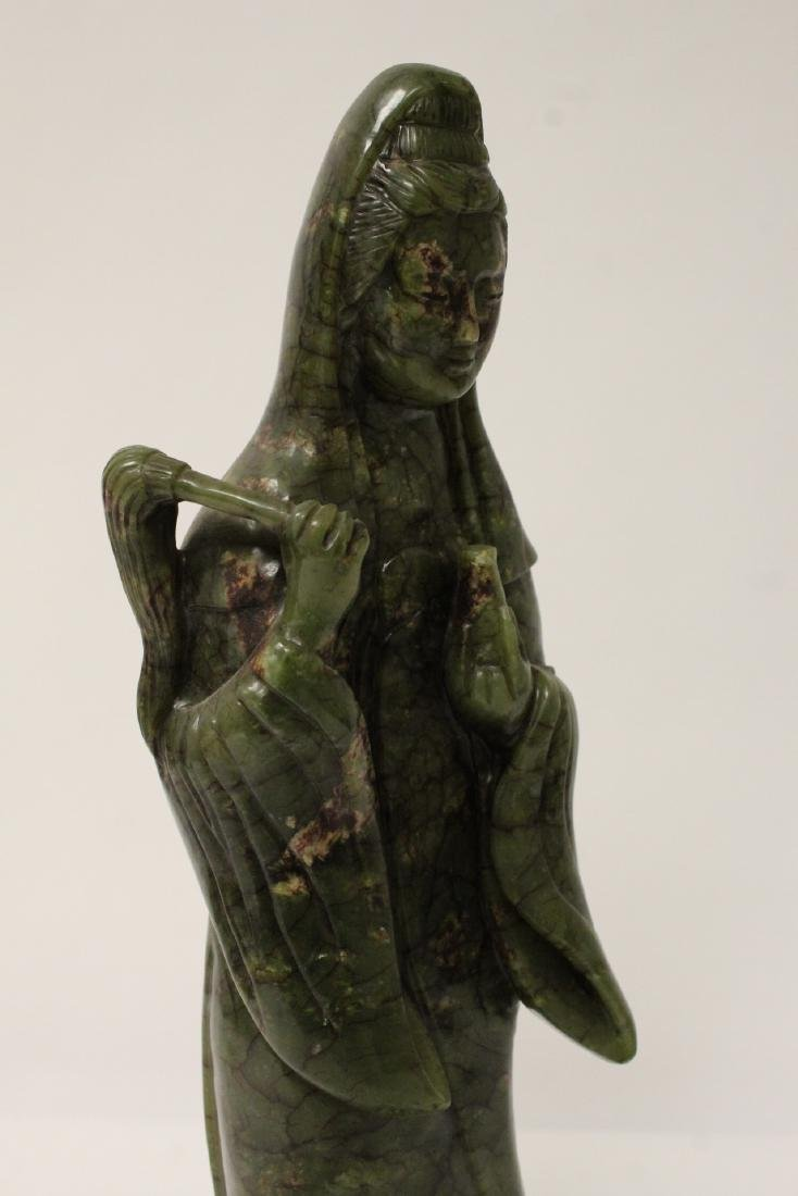 An important Chinese antique green jade carving - 10