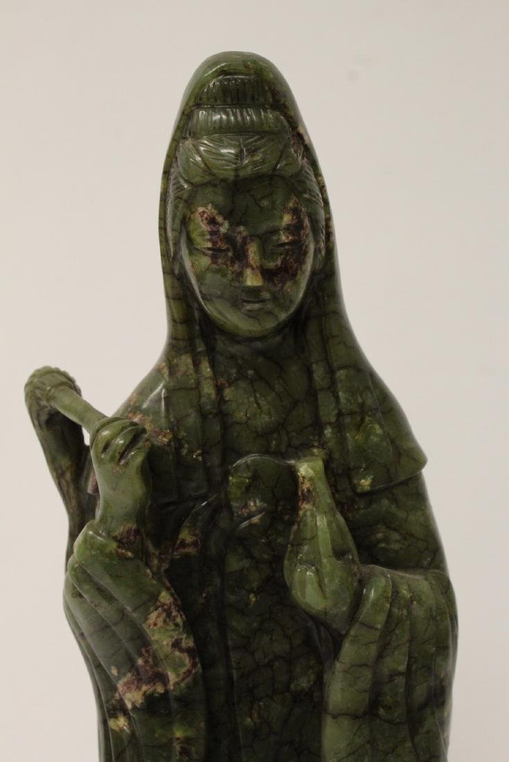 An important Chinese antique green jade carving - 5
