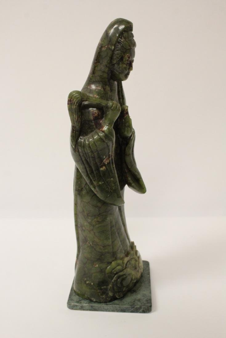 An important Chinese antique green jade carving - 9