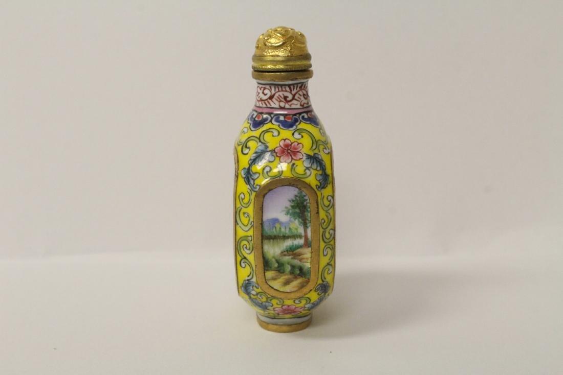 Enamel on copper snuff bottle - 3