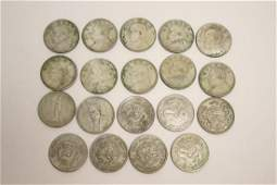 19 Chinese silver like coins