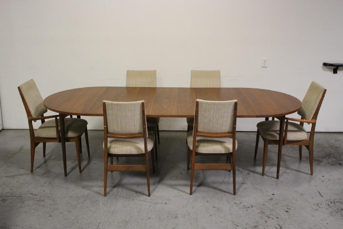 50's teak wood 7 piece dining room set