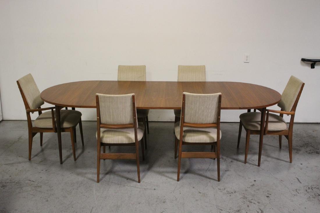 50's teak wood 7 piece dining room set