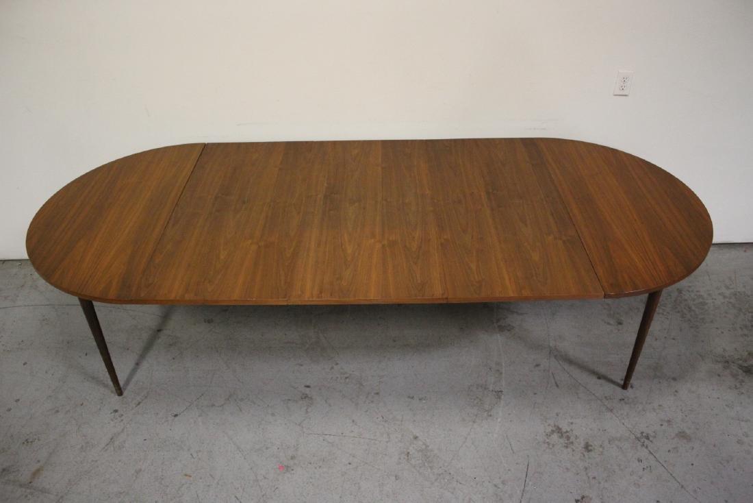 50's teak wood 7 piece dining room set - 4