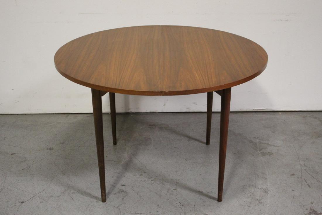 50's teak wood 7 piece dining room set - 5