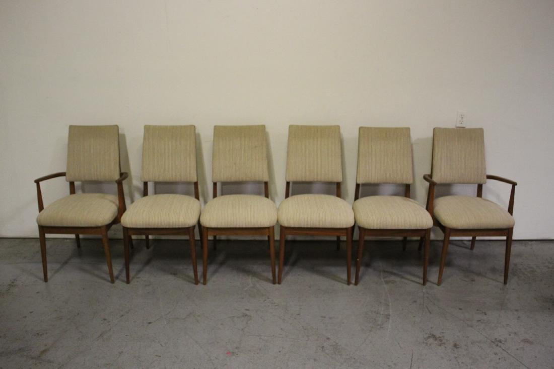 50's teak wood 7 piece dining room set - 6