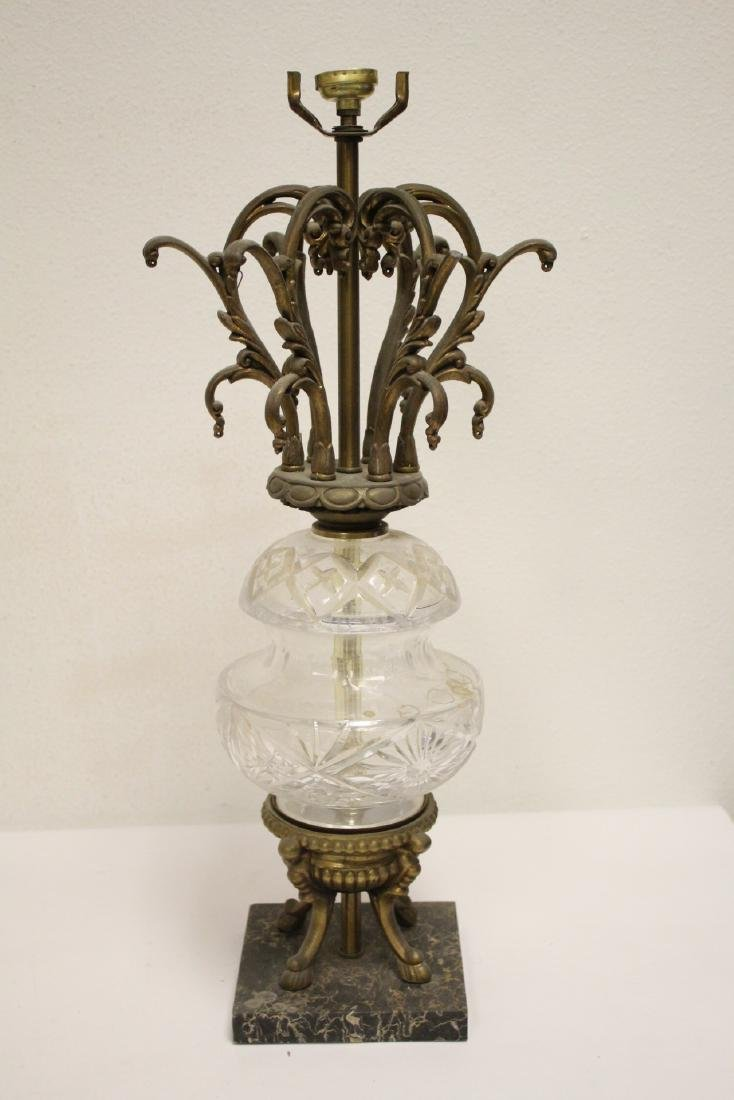 5 alabaster lamps and 4 French table lamps - 4