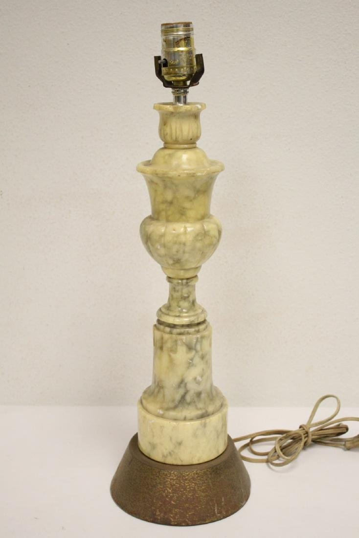 5 alabaster lamps and 4 French table lamps - 7