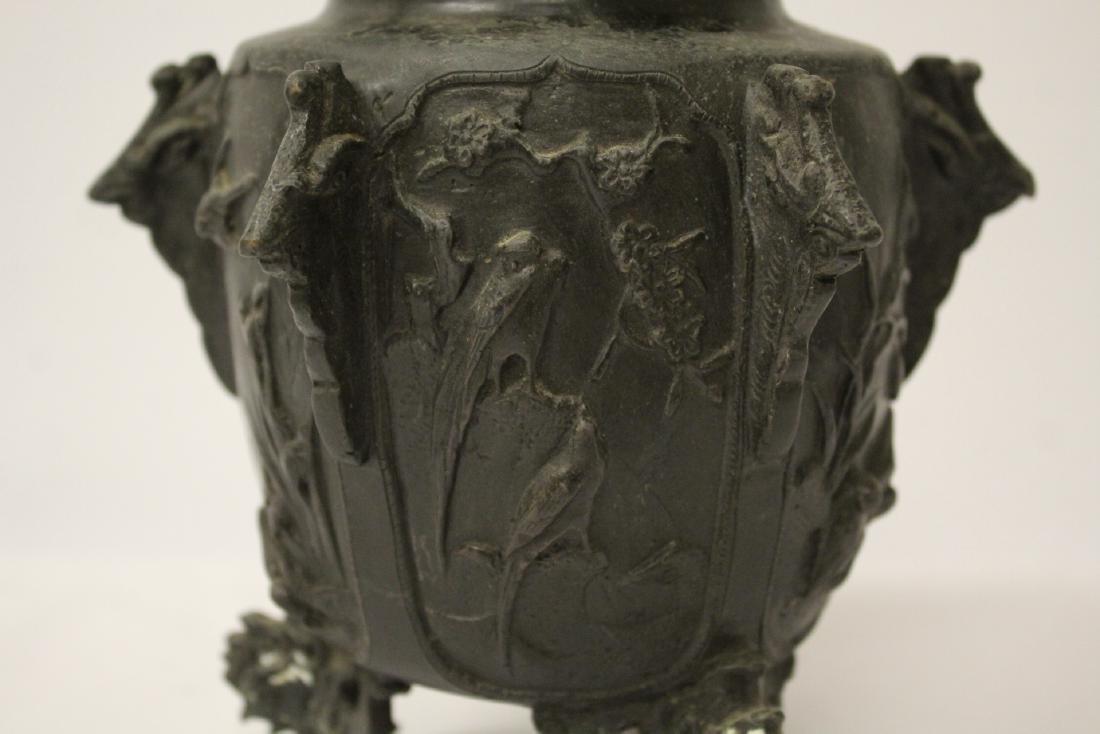 Antique Chinese bronze censer - 10
