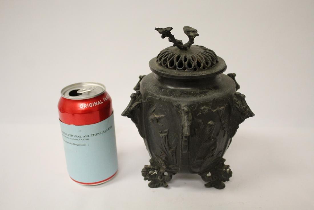 Antique Chinese bronze censer - 2