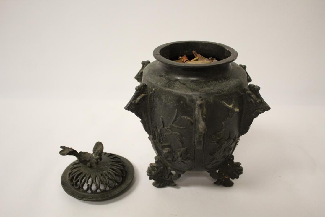 Antique Chinese bronze censer - 4