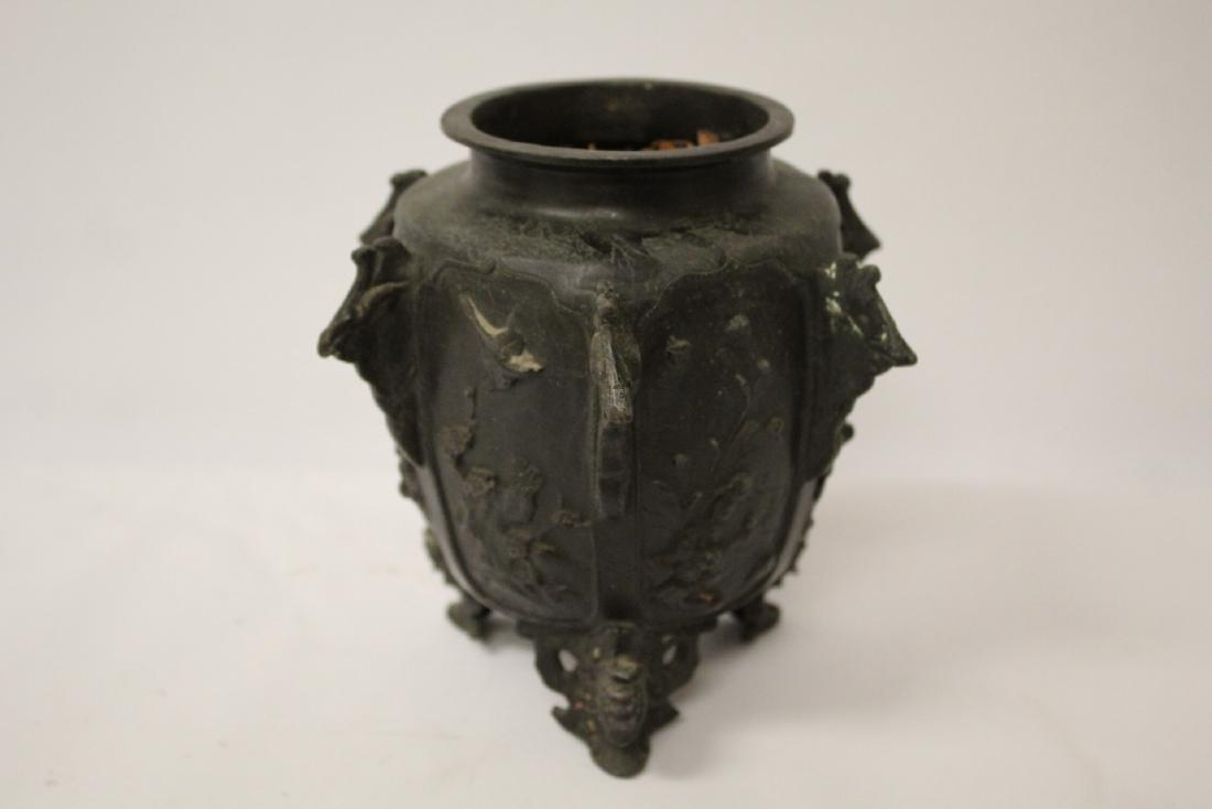 Antique Chinese bronze censer - 5