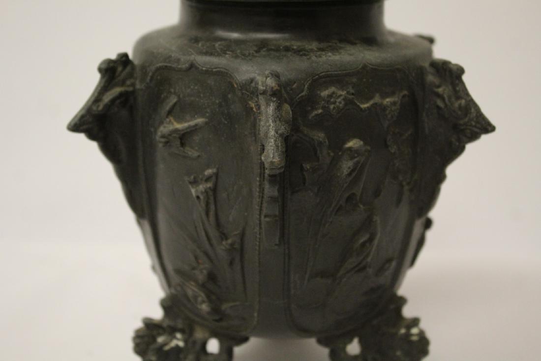 Antique Chinese bronze censer - 9