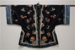 Chinese antique silk robe with beautiful embroidery
