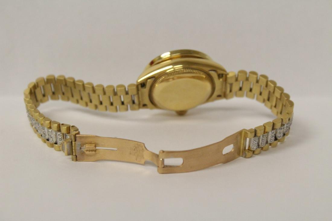 Rolex 18K President lady's diamond wrist watch - 10
