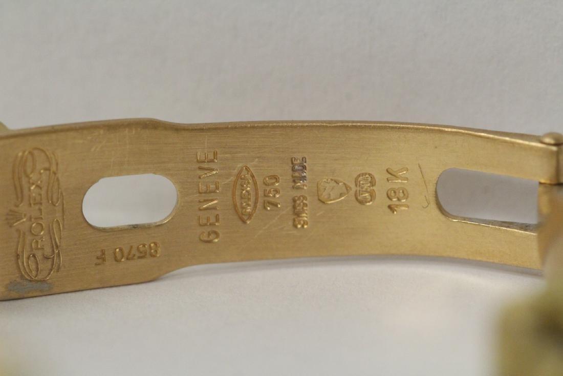Rolex 18K President lady's diamond wrist watch - 11