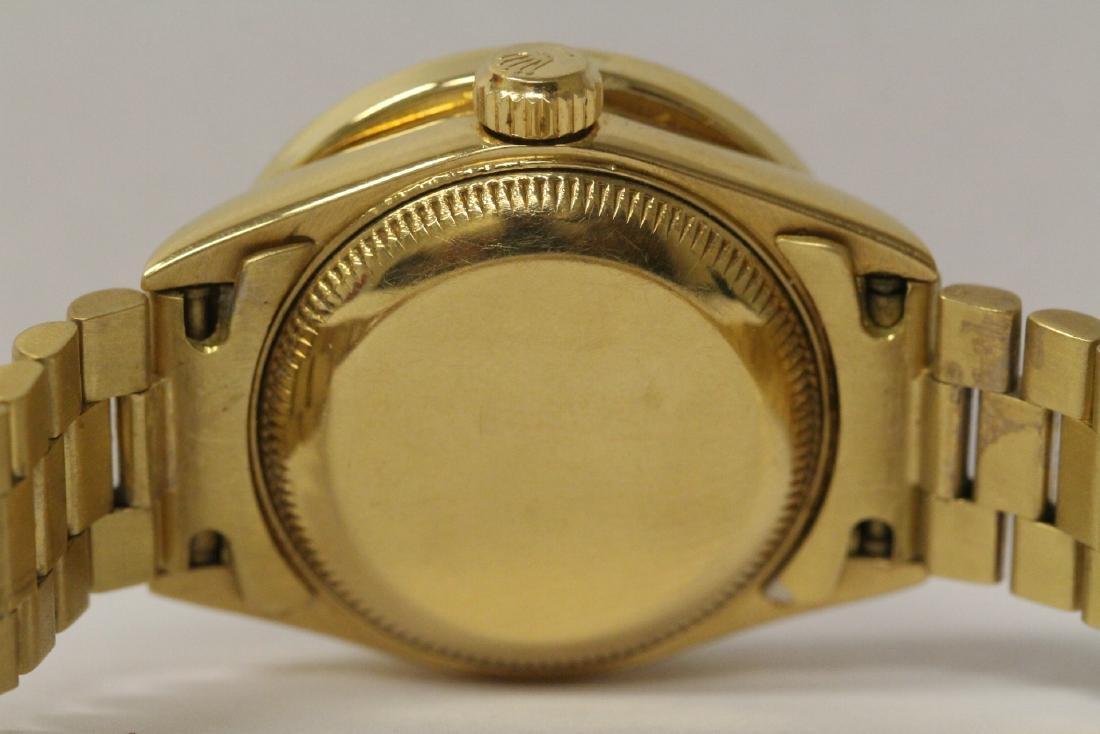 Rolex 18K President lady's diamond wrist watch - 12
