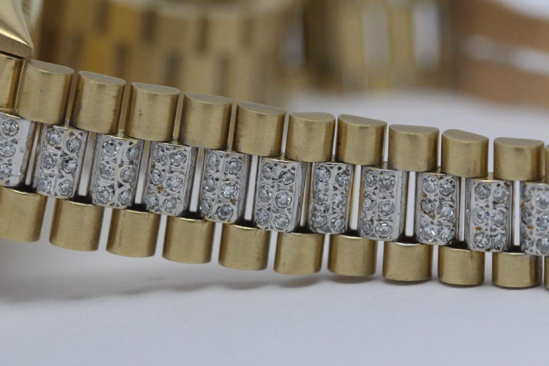 Rolex 18K President lady's diamond wrist watch - 15