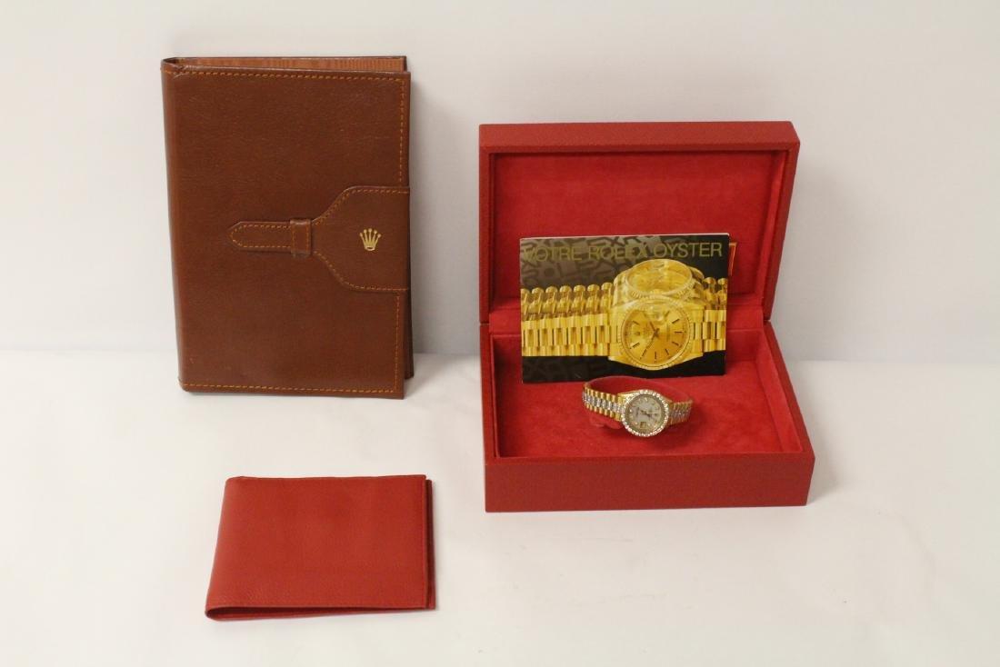 Rolex 18K President lady's diamond wrist watch