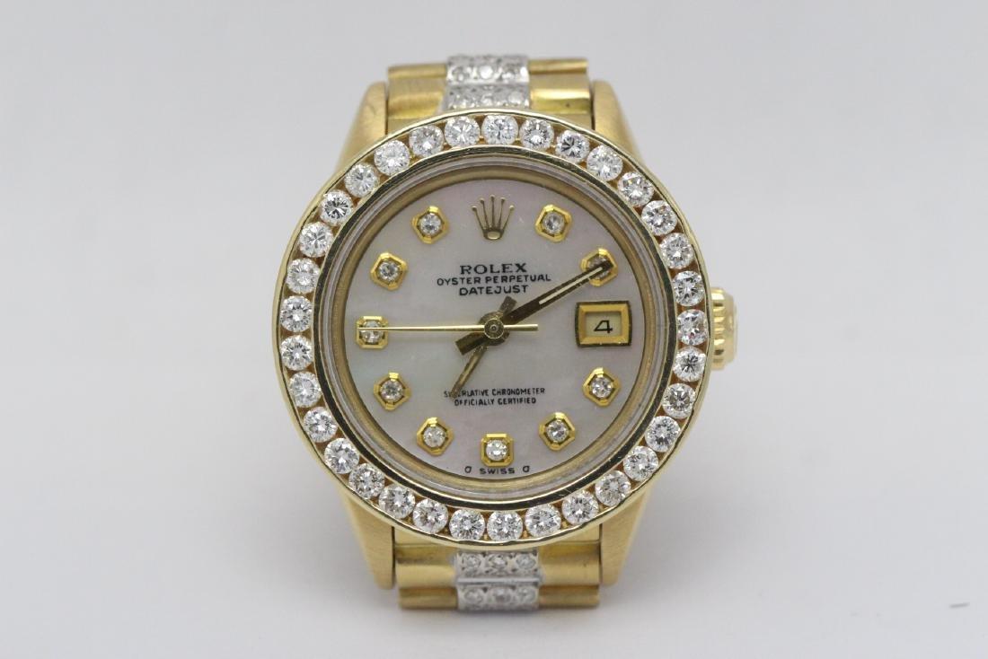 Rolex 18K President lady's diamond wrist watch - 2