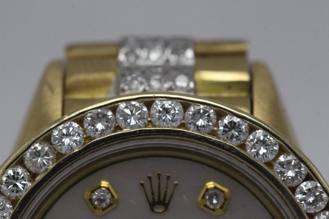 Rolex 18K President lady's diamond wrist watch - 4