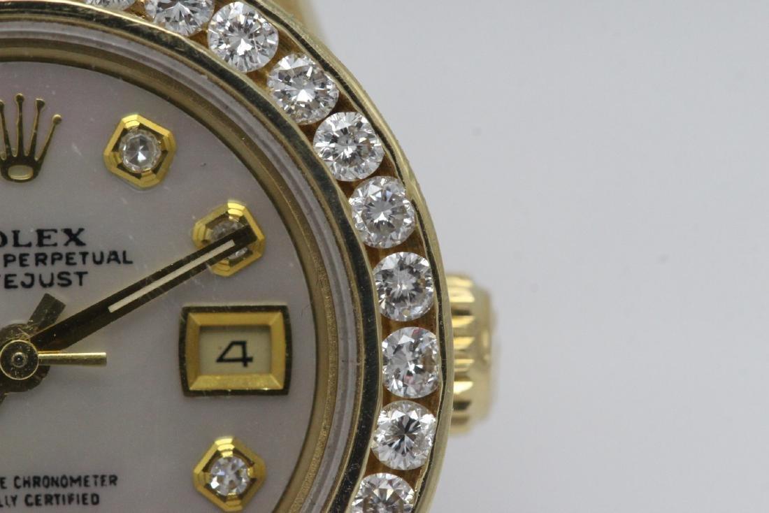 Rolex 18K President lady's diamond wrist watch - 5