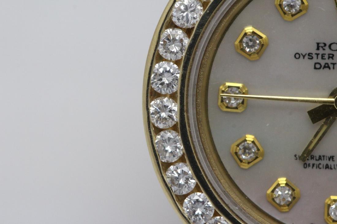 Rolex 18K President lady's diamond wrist watch - 6