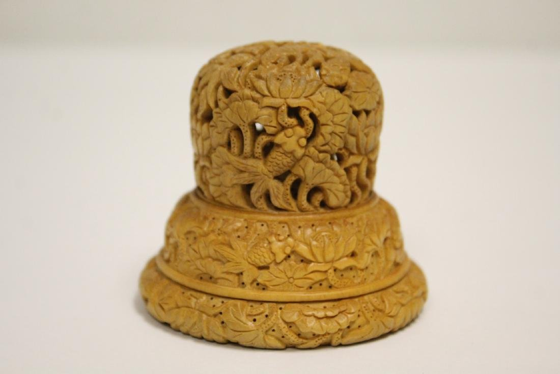 Wood carved finial
