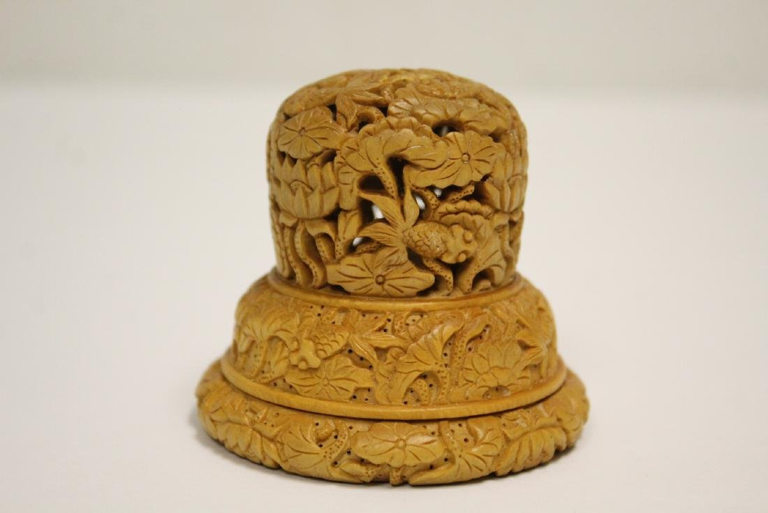 Wood carved finial - 2