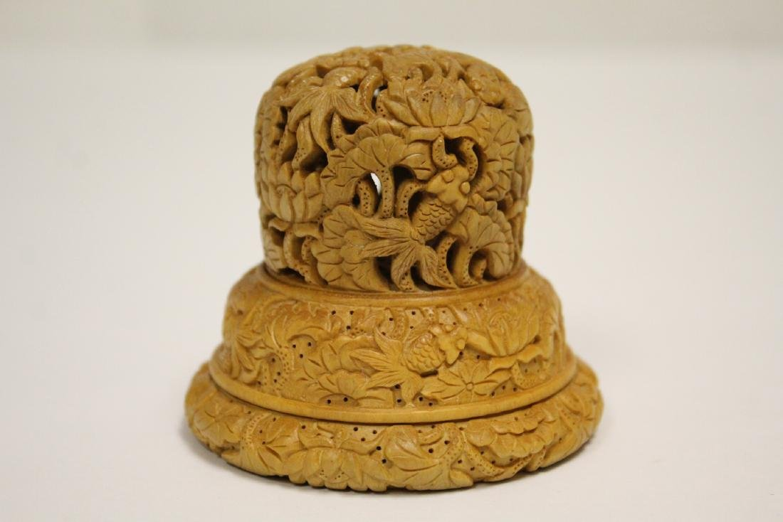 Wood carved finial - 4