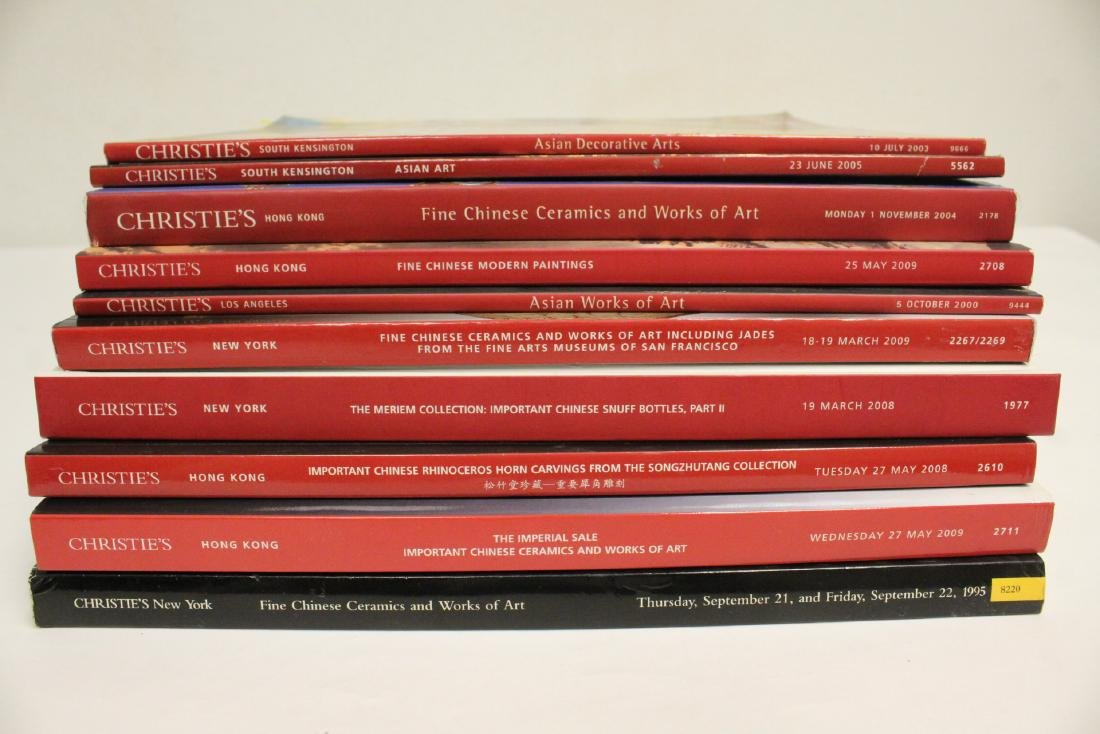 Lot of Christie's Chinese antique auction catalogs - 10