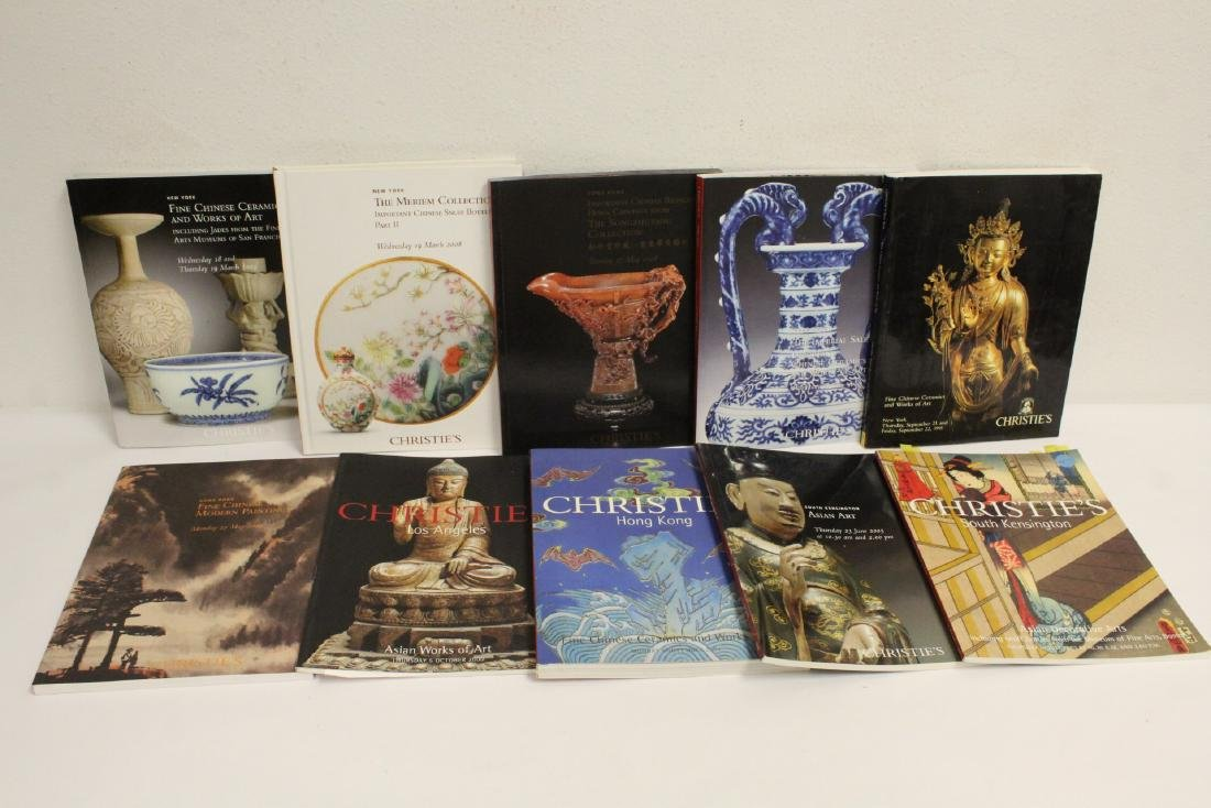 Lot of Christie's Chinese antique auction catalogs