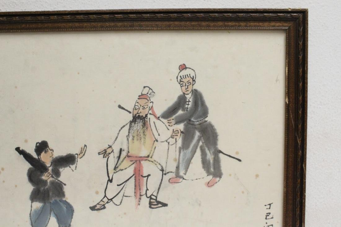 Chinese framed watercolor - 3