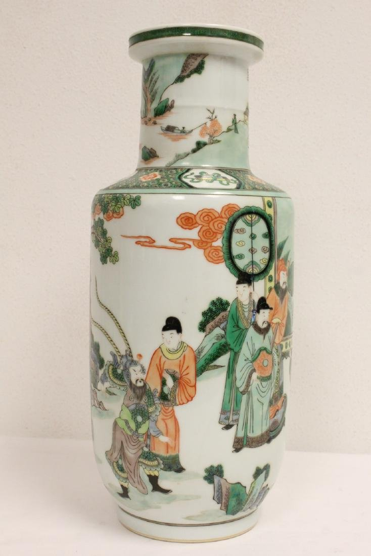 A beautiful Chinese famille rose porcelain vase - 4