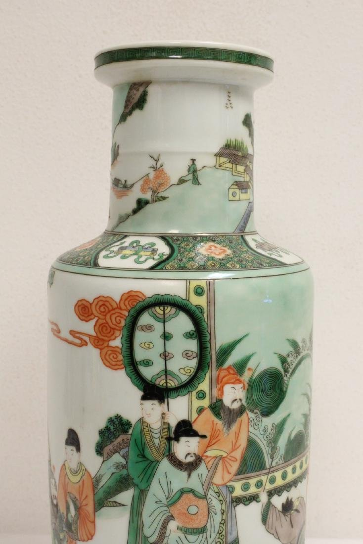 A beautiful Chinese famille rose porcelain vase - 6