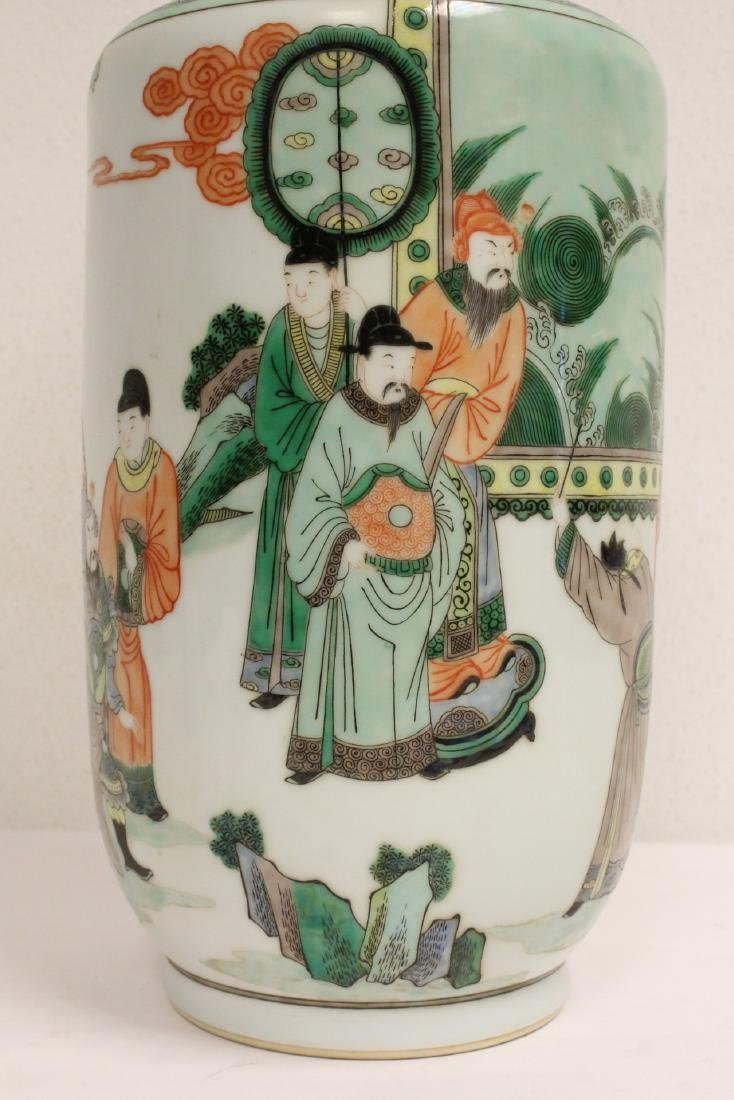 A beautiful Chinese famille rose porcelain vase - 7