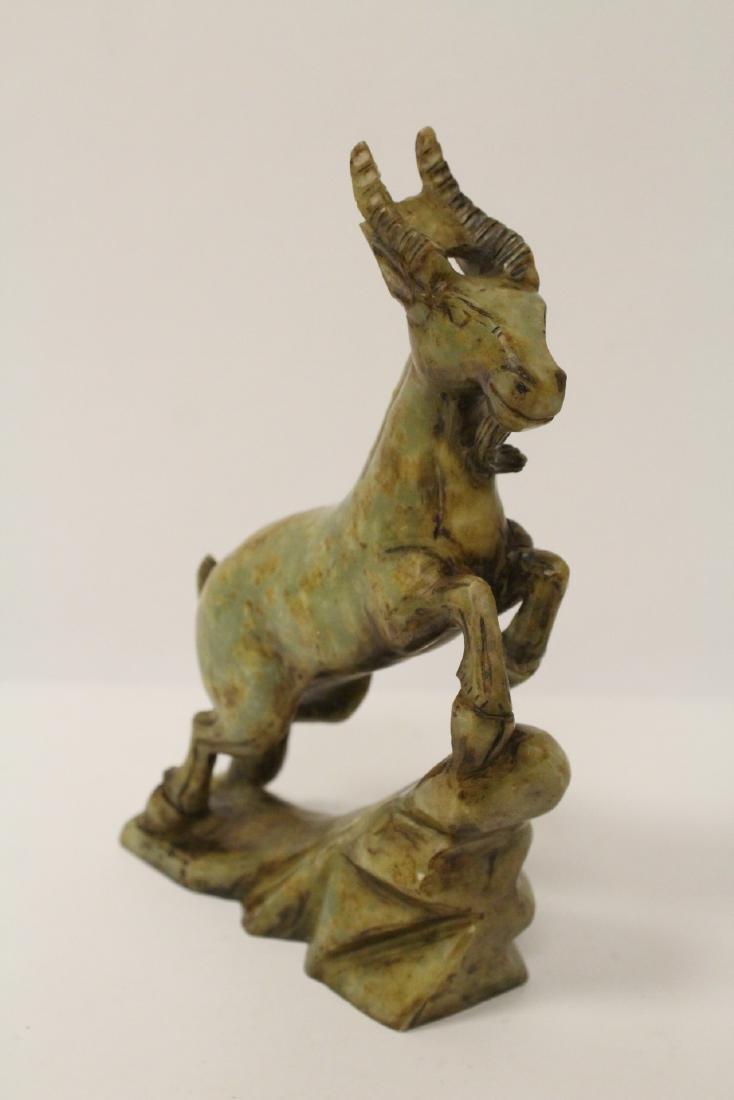 Chinese jade carved deer - 2