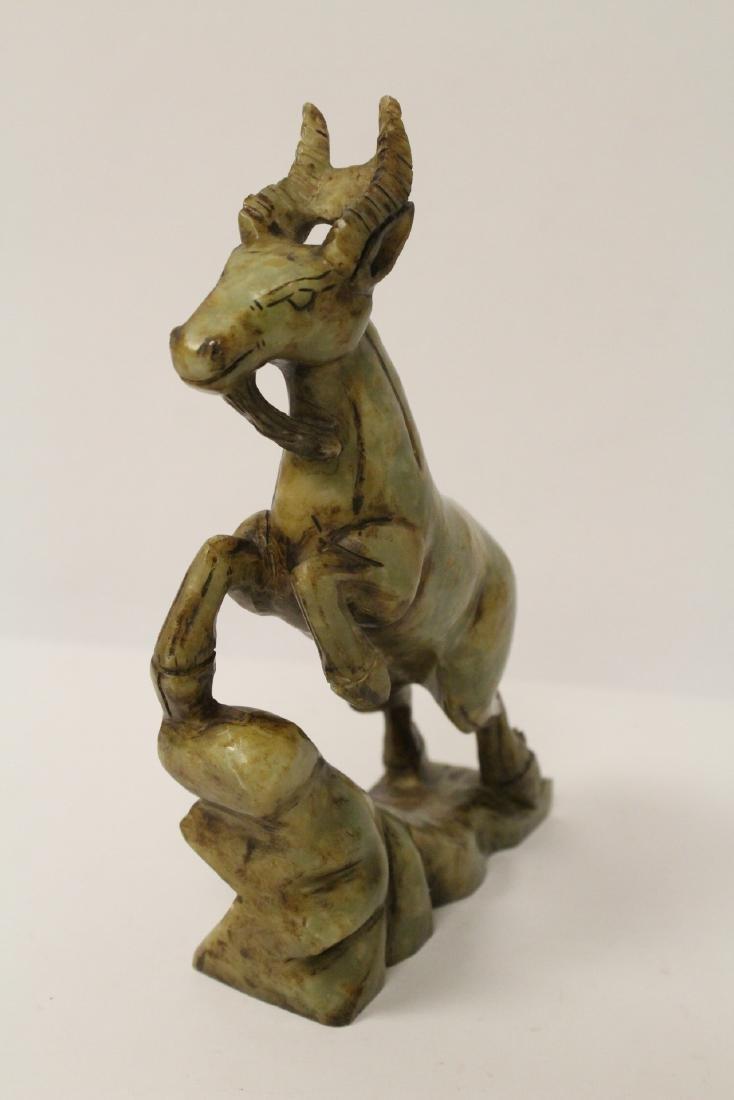 Chinese jade carved deer - 3