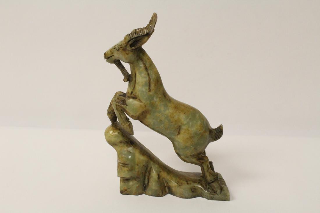 Chinese jade carved deer - 4