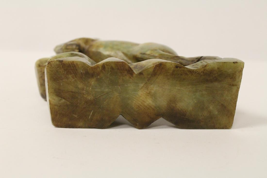 Chinese jade carved deer - 9