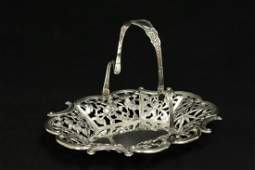 Unusual Chinese antique export silver basket