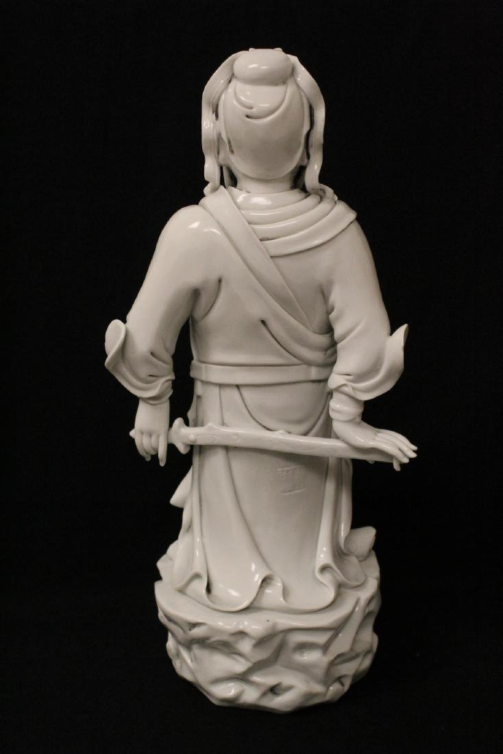 Chinese white porcelain sculpture of deity - 10