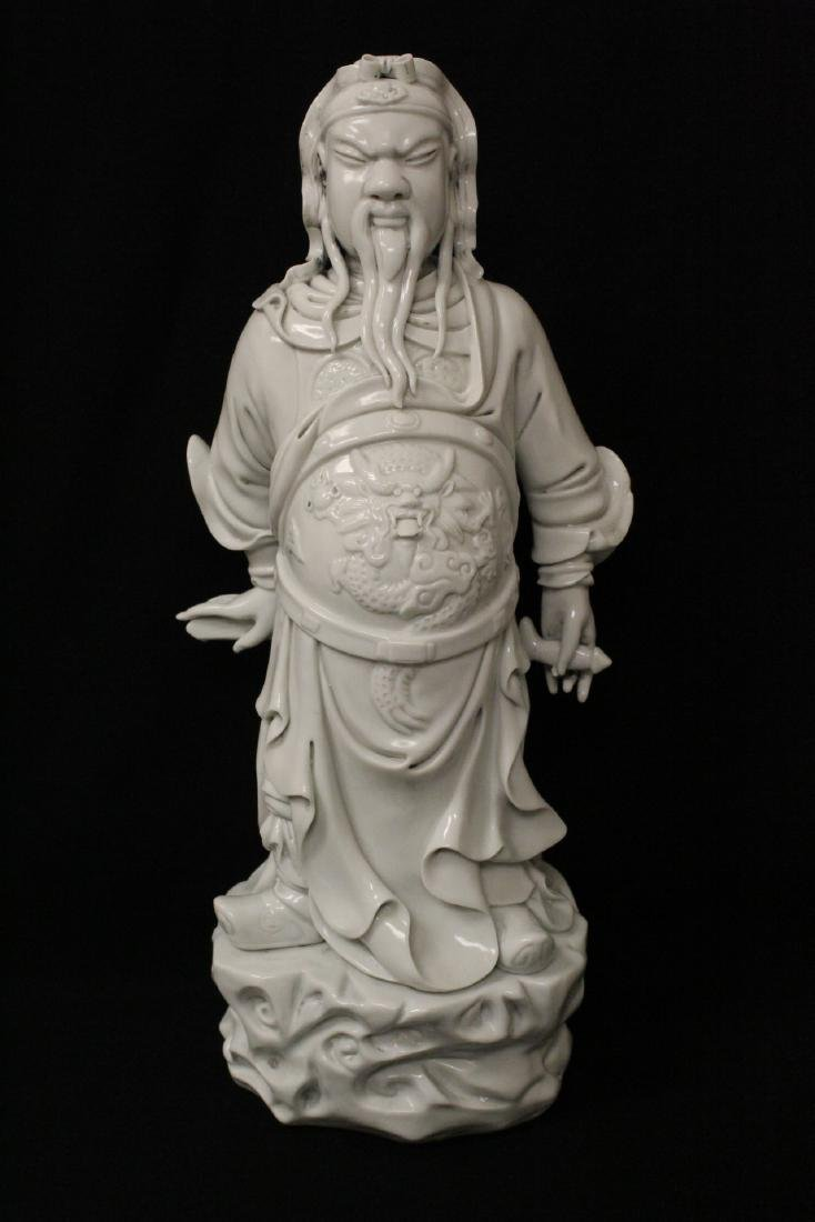 Chinese white porcelain sculpture of deity