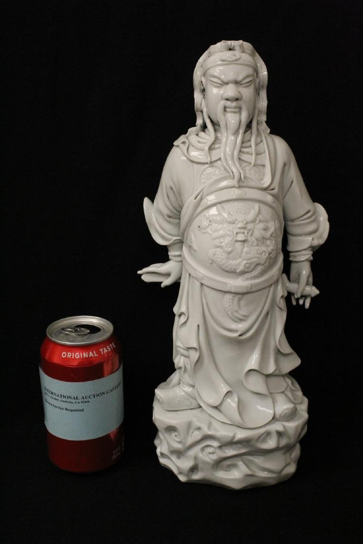 Chinese white porcelain sculpture of deity - 2