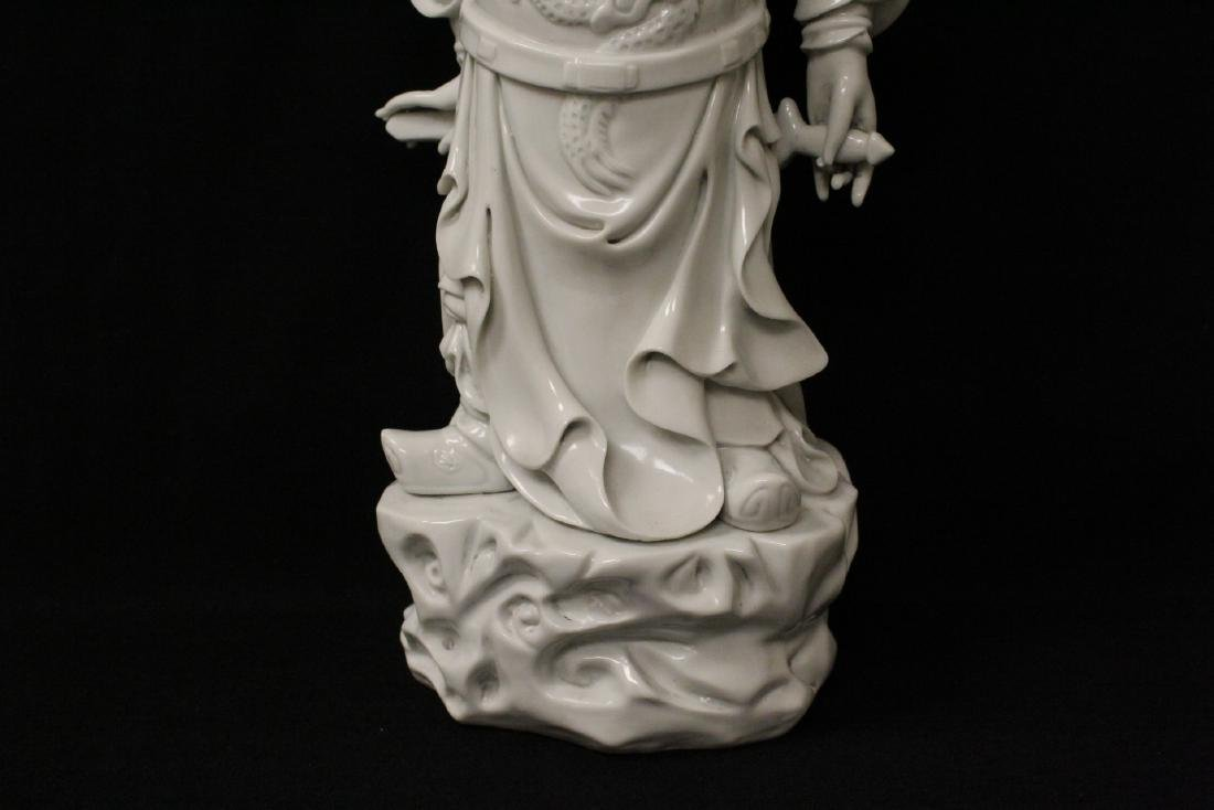 Chinese white porcelain sculpture of deity - 3