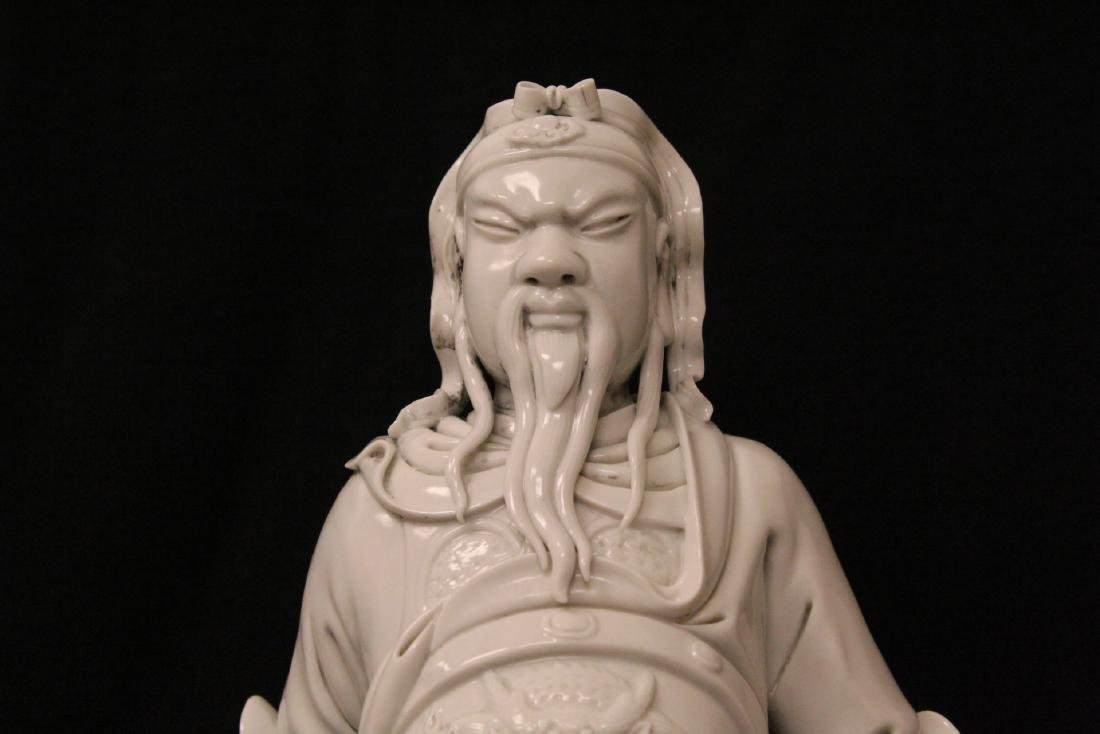 Chinese white porcelain sculpture of deity - 5