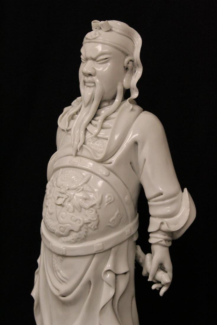 Chinese white porcelain sculpture of deity - 7