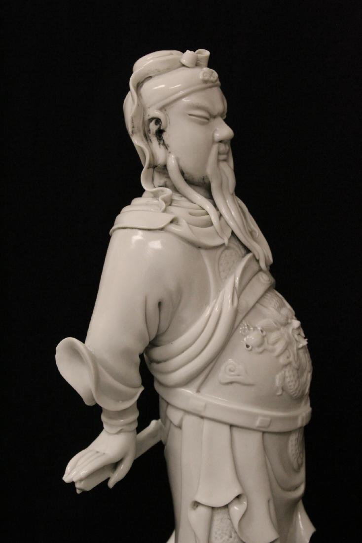 Chinese white porcelain sculpture of deity - 9
